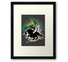 Super Smash Bros. White/Dalmatian Duck Hunt Dog Framed Print