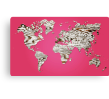 Pink Map of The World - World Map for your walls Canvas Print