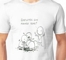 Zombie manners Unisex T-Shirt