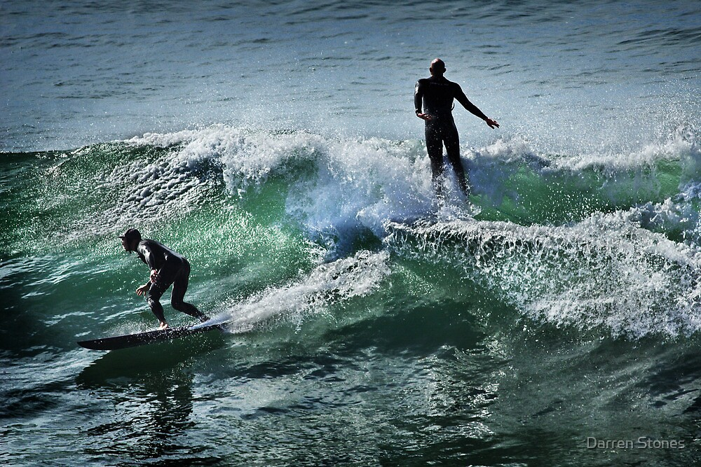 Surfing at Winkipop by Darren Stones