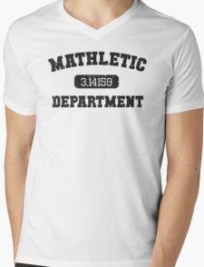 Mathletic Department Mens V-Neck T-Shirt