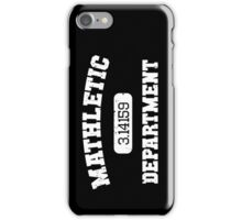 Mathletic Department iPhone Case/Skin