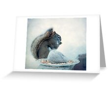 Little Squirrel's Breakfast ~ Greeting Card
