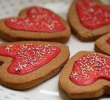 Gingerbread Hearts by Hannah Welbourn