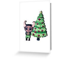 Rockin' around the Krampus Tree Greeting Card
