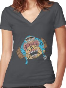 Franky Franky Choppers Modest Message Women's Fitted V-Neck T-Shirt