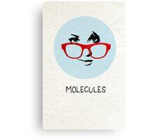 Molecules Canvas Print