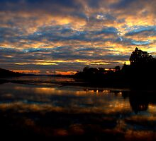 Sunset Reflected In The Tamar by Jonathan Goddard