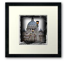 St. Peter's Basilica Vatican Rome Framed Print