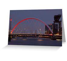 CLYDE ARC (SQUINTY BRIDGE) - GLASGOW Greeting Card