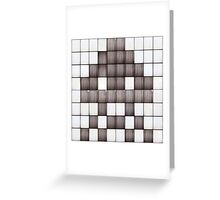 The Space Invader 02. Greeting Card