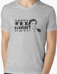 Happy Rex Manning Day! Mens V-Neck T-Shirt