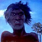 Aboriginal by moonlight by Guntis Jansons