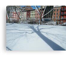 West 30s Manhattan Snow Views, New York City Canvas Print