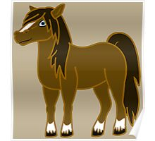 Brown Horse with Blaze Poster