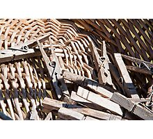 Clothespins Photographic Print