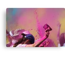 coloured Canvas Print