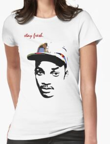 Stay Fresh. Womens Fitted T-Shirt