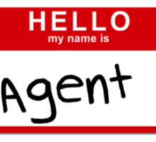 Uh- His first name is Agent Sticker