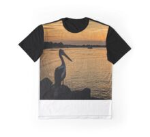 Pelican Sunset On Hastings Graphic T-Shirt
