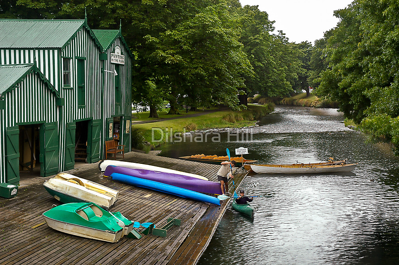 Boat Shed on the River by Dilshara Hill