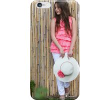 Lonely 12 year old with white hat iPhone Case/Skin
