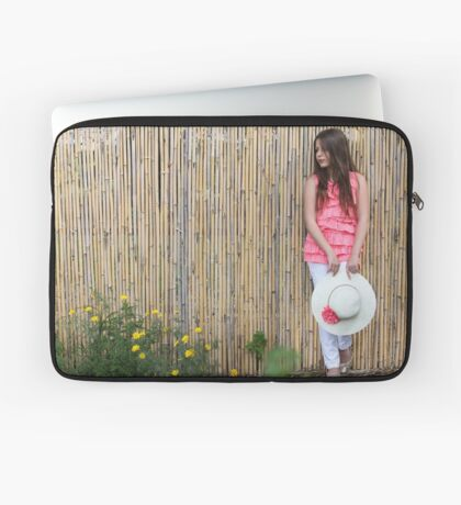 Lonely 12 year old with white hat Laptop Sleeve