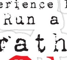 Run a Marathon 42K  Sticker