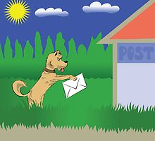 dog and letter by valeo5