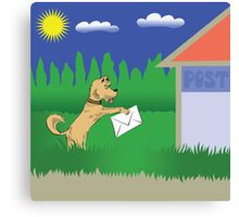 dog and letter Canvas Print