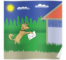 dog and letter Poster
