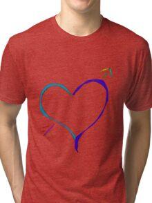 Heart with Arrow Tri-blend T-Shirt