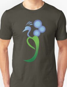 Peacock with Morning glory T-Shirt