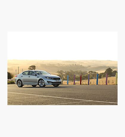 Kia Optima Platinum — Sunset Photographic Print