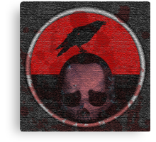 deceased mercenary patch sticker Canvas Print