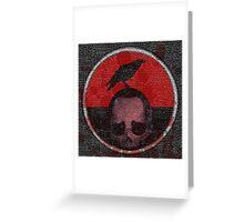 deceased mercenary patch sticker Greeting Card
