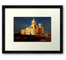 Mission San Xavier Del Bac Last Light Framed Print