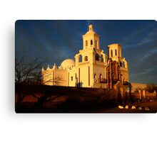 Mission San Xavier Del Bac Last Light Canvas Print