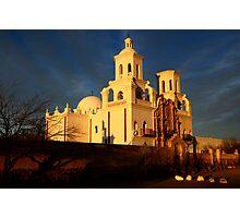 Mission San Xavier Del Bac Last Light Photographic Print