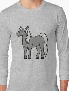 Gray Horse Long Sleeve T-Shirt