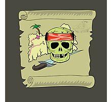 pirate map Photographic Print