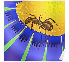 ant and flower Poster