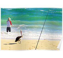 Beach scene with Mr. Hopeful Poster