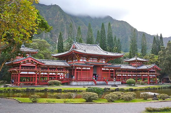 Byodo-In Japanese Temple by David Davies