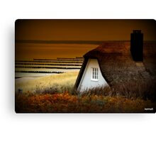 Shelter by the Sea Canvas Print