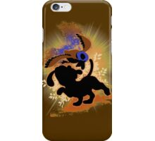 Super Smash Bros. Tan Duck Hunt Dog Silhouette iPhone Case/Skin