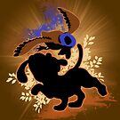 Super Smash Bros. Tan Duck Hunt Dog Silhouette by jewlecho