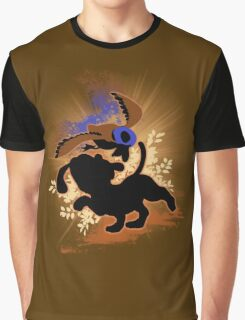 Super Smash Bros. Tan Duck Hunt Dog Silhouette Graphic T-Shirt