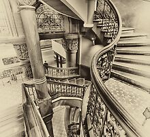 Off The Rails (Sepia) - Queen Victoria Building Sydney - The HDR Experience by Philip Johnson