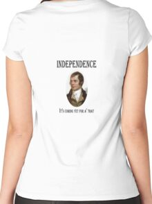 Robert Burns Scottish Independence T-Shirt Women's Fitted Scoop T-Shirt